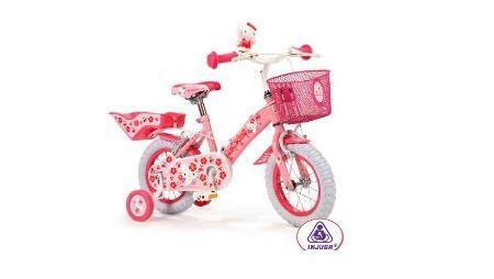 bicicleta kitty portamunecas  - Bicicleta de Hello Kitty