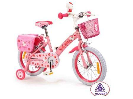 bicicleta kitty portamunecas grande  - Bicicleta de Hello Kitty