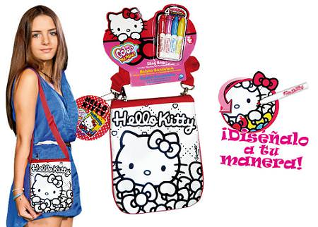 Bolso Hello Kitty para pintar  - Bolso Hello Kitty para colorear