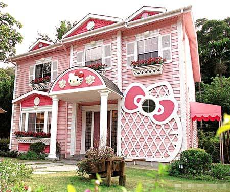 casa hello kitty fachada  - La casa de Hello Kitty
