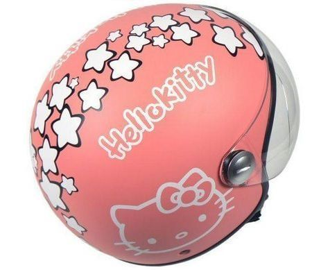 casco hello kitty rosa  - Casco de Hello Kitty