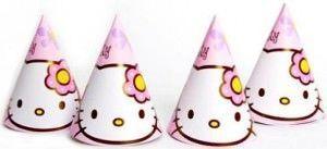 cumpleaños hello kitty gorros  - Fiesta de cumpleaños Hello Kitty