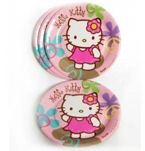 cumpleaños hello kitty platos  - Fiesta de cumpleaños Hello Kitty