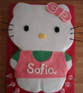 cumpleaños hello kitty tarta