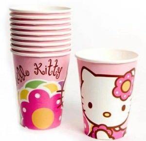 cumpleaños hello kitty vasos  - Fiesta de cumpleaños Hello Kitty