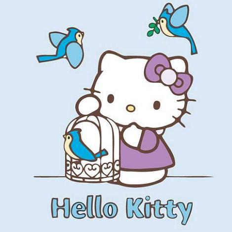 dibujos hello kitty para colorear