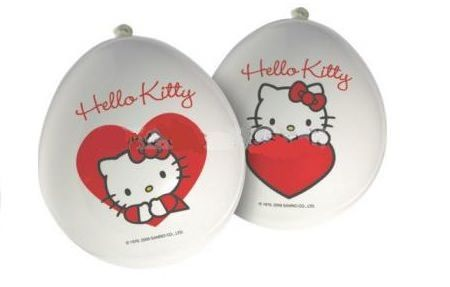 globos kitty corazon rojo