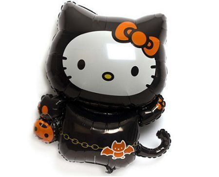 globos kitty halloween  - Globos Hello Kitty