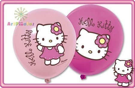 globos kitty rosas