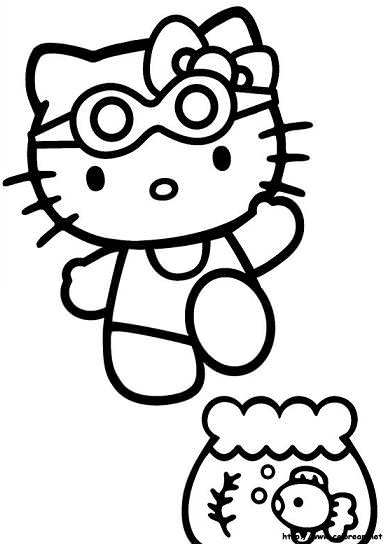 hello kitty para colorear imagenes