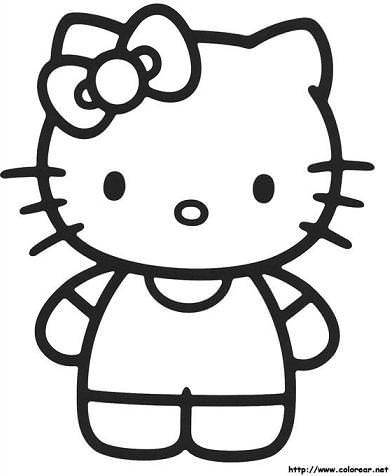 hello kitty para colorear kitty lazo