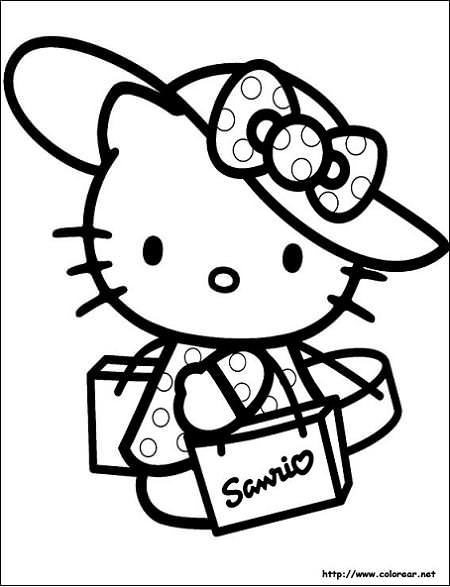 Colorear Hello Kitty Hello Kitty En Mundokittycom
