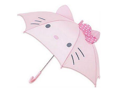 paraguas kitty forma  - Paraguas de Hello Kitty