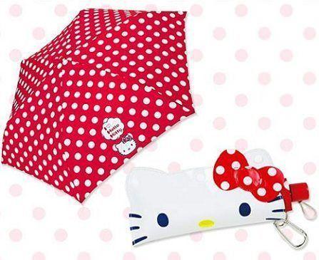 paraguas kitty lunares  - Paraguas de Hello Kitty