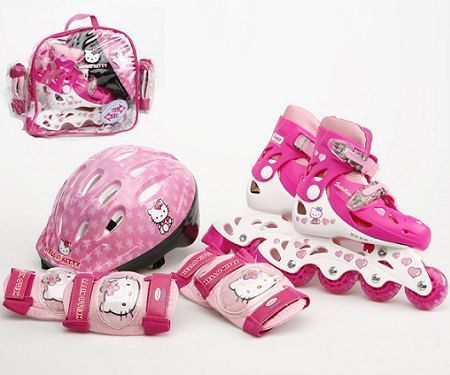 patines hello kitty linea kit casco