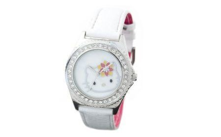 reloj kitty blanco