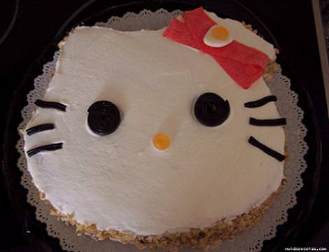 tarta hello kitty cara  - Tarta Hello Kitty