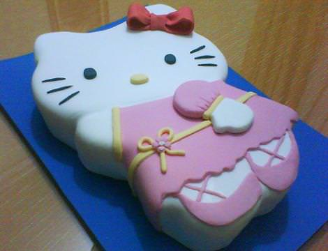 tarta hello kitty cuerpo  - Tarta Hello Kitty