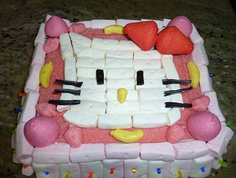 tarta hello kitty gominolas  - Tarta Hello Kitty