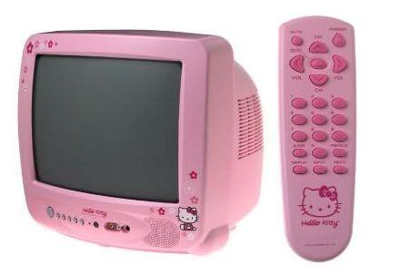 televisor kitty clasico rosa