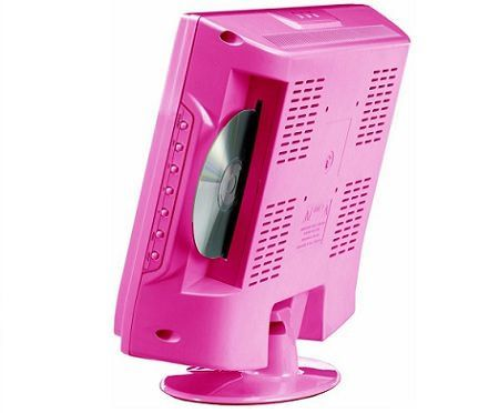 televisor kitty lcd rosa dvd