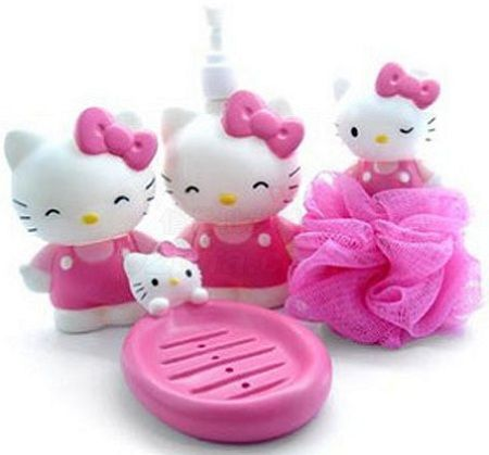 bano kitty kit geles  - Baño de Hello Kitty