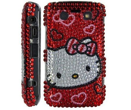 blackberry hello kitty brillantes roja