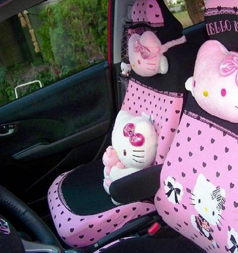 coches hello kitty asientos