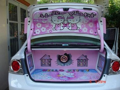 coches hello kitty maleteros