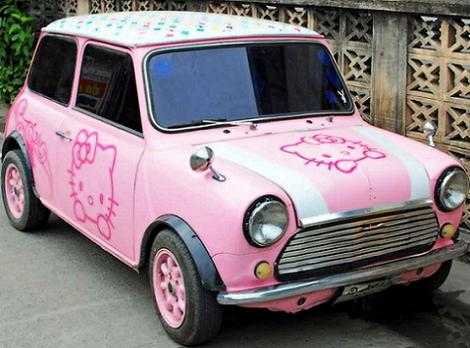 coches hello kitty mini