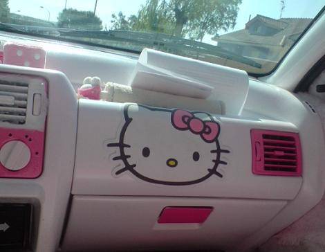 coches hello kitty salpicadero