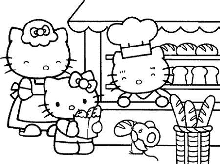 Colorear a Hello Kitty  - Dibujos Hello Kitty para imprimir