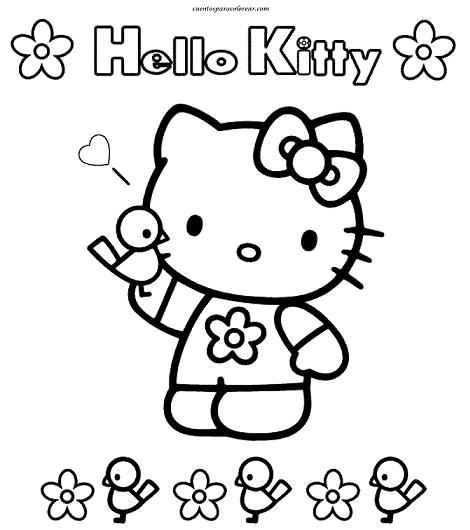dibujos para colorear kitty  - Dibujos para colorear Kitty