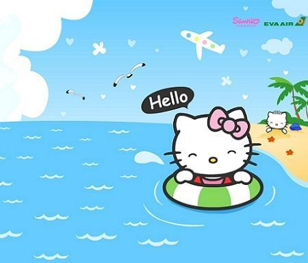 fondos escritorio hello kitty playa