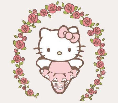 fondos pantalla kitty rosas