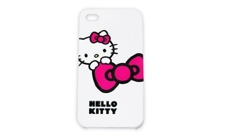 funda kitty iphone blanca