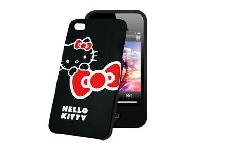 funda kitty iphone negra