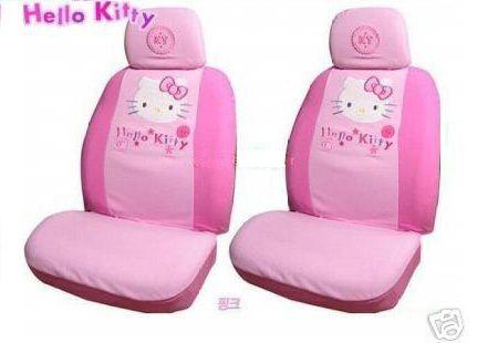 fundas coche kitty rosas  - Fundas Hello Kitty para el coche