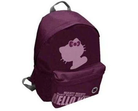 mochila escolar hello kitty morada