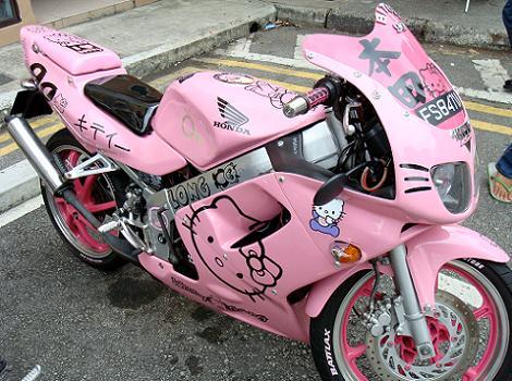 moto hello kitty honda