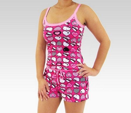 pijamas hello kitty corto conjunto