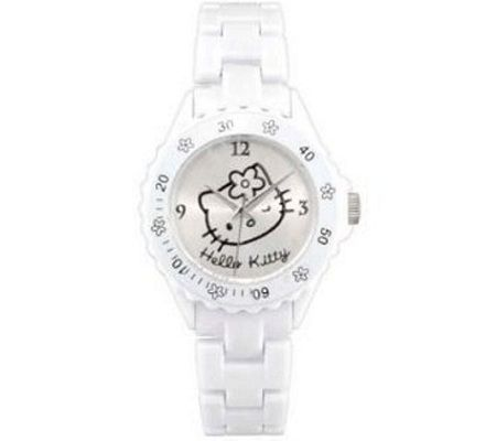 reloj kitty blanco plastico