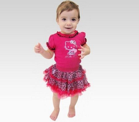 ropa hello kitty bebe leopardo