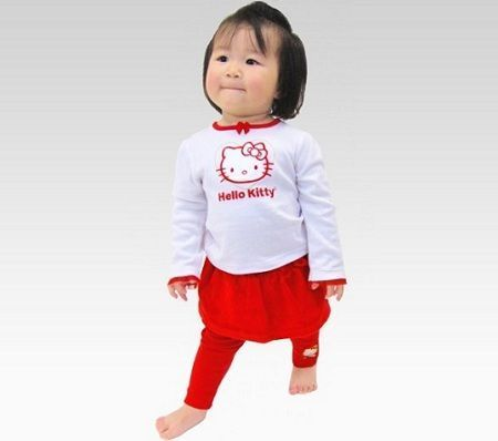 ropa hello kitty bebe rojo blanco