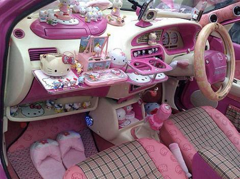 coche hello kitty salpicadero