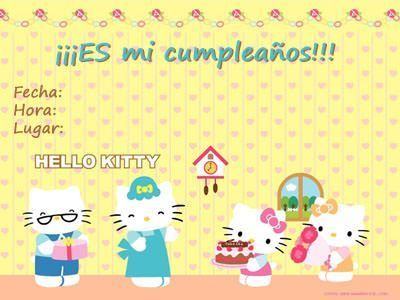 tarjetas cumpleanos hello kitty amarilla