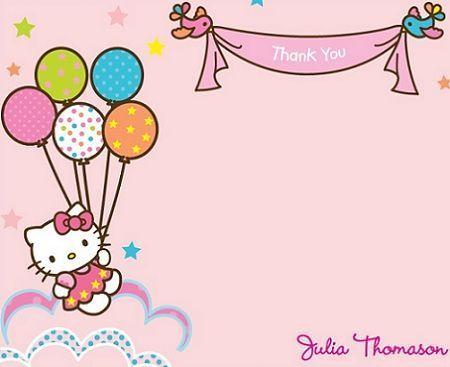 tarjetas cumpleanos hello kitty globos