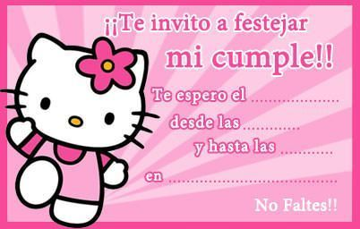 tarjetas cumpleanos hello kitty pequena