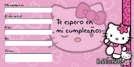 Invitaciones De Cumpleaños Hello Kitty Hello Kitty En