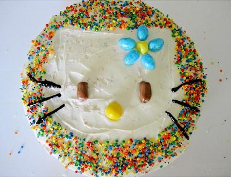 Tarta de nata Hello Kitty